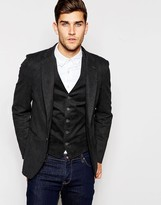 United Colors Of Benetton Check Suit Jacket In Slim Fit In Grey