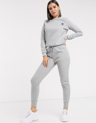 Converse Convere High Waisted Slim Fit Gray Sweatpants