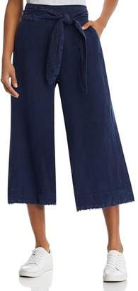 Bella Dahl Frayed Cropped Wide-Leg Pants