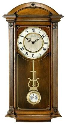 Bulova Clocks C4331 Hartwick 29 Inch Large Classic Walnut Pendulum Wall Clock