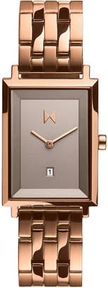 MVMT Women Blair Rose Gold-Tone Stainless Steel Bracelet Watch 24mm