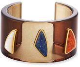 Lizzie Fortunato Dada Cabochon Cuff Bracelet