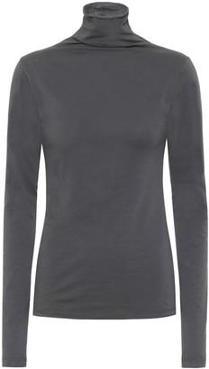 Velvet Talisia stretch-cotton turtleneck top