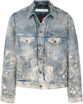 Off-White distressed denim jacket