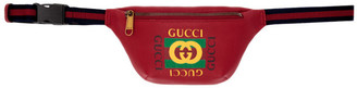 Gucci Red Vintage Logo Pouch