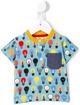 Fendi lightbulb print polo shirt - kids - Cotton/Spandex/Elastane - 3 mth