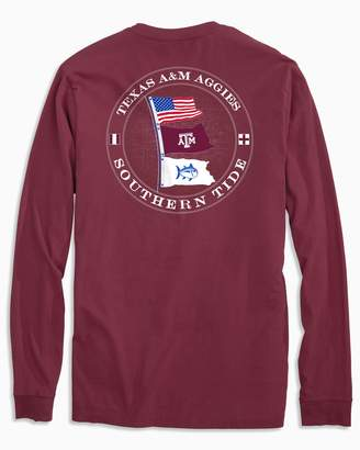 Southern Tide Texas A&M Aggies Flags Long Sleeve T-Shirt