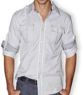 191 Unlimited Men's Grey Button-front Shirt