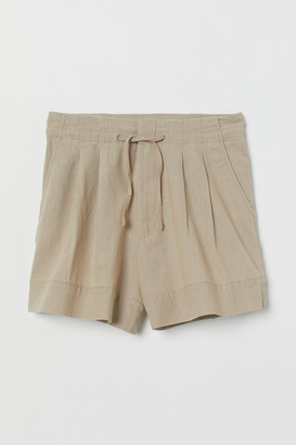 H&M Linen-blend Shorts