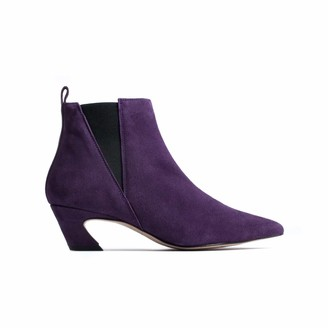 L'Intervalle LIntervalle Women's Keylas Purple Suede Mid Calf Boot