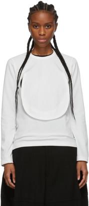 Comme des Garçons Comme des Garçons White Circle Cut-Out Long Sleeve T-Shirt