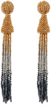 Cara Accessories Long Seed Bead Tassel Drop Earrings