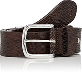 Barneys New York MEN'S EMBOSSED LEATHER BELT