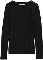 Sessun Ribbed Via Camerelle Pullover with Shoulder Buttons