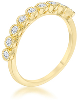 Kate Bissett Cubic Zirconia & Gold Bea Ring