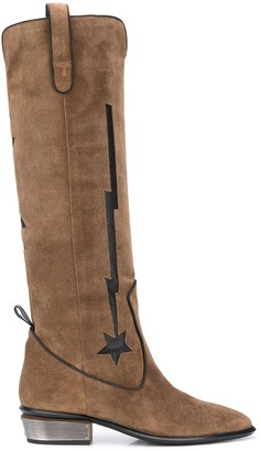 Kate Cate Lightening Bold High Boots