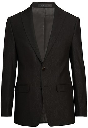 Calvin Klein Jacquard Stretch Slim-Fit Jacket