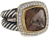 David Yurman Diamond & Smoky Quartz Albion Ring