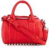 Alexander Wang Mini Rockie Leather Satchel Bag, Red