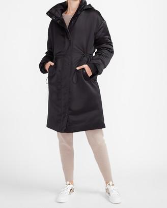 Express Satin Puffer Coat