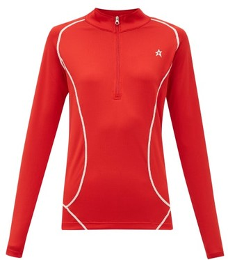 Perfect Moment Half-zip High-neck Technical-jersey Top - Womens - Red