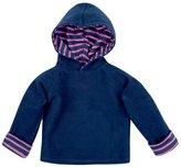 Jo-Jo JoJo Maman Bebe Hooded Sweatshirt (Baby) - Navy/Fuchsia Stripe-18-24 Months
