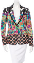 Etro Floral Print Single-Button Blazer