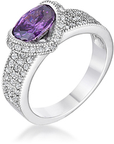 Kate Bissett Purple & White Cubic Zirconia Oval Ring