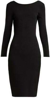 The Row darta scoop-back midi dress black