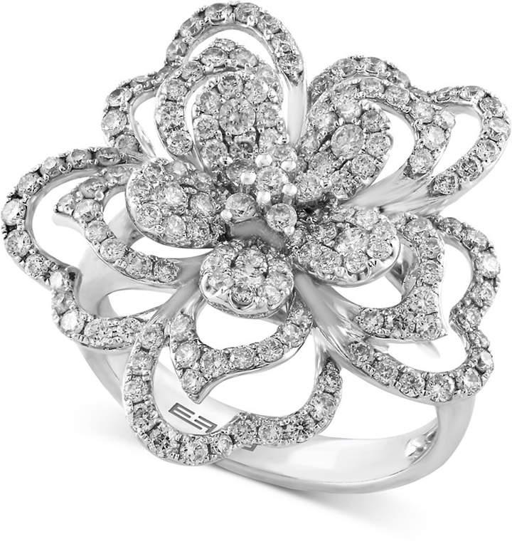 Effy Diamond Flower Ring (1-1/3 ct. t.w.) in 14k White Gold