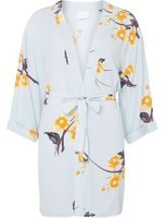 Dorothy Perkins Womens **Vila Blue Floral Kimono- Blue