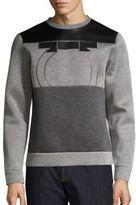 Salvatore Ferragamo Leather & Neopene Gancio Sweatshirt
