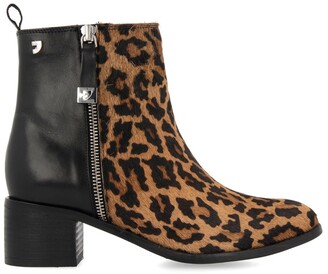 GIOSEPPO Koyuk Suede Ankle Boots in Leopard Print