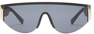 Le Specs Viper Shield Matte-acetate Sunglasses - Black Gold