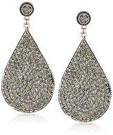 Azaara Crystal Black Swarovski Crystal Teardrop Earrings