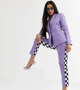 Asos Design DESIGN x Christian Cowan lilac two-piece suit cigarette pants-Purple