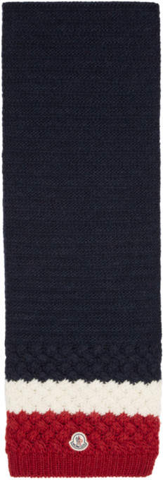Moncler Tricolor Flag Scarf