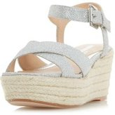 Dorothy Perkins Womens *Head Over Heels By Dune 'Kyli' Wedge Sandals- Silver