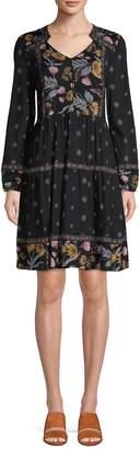 Style&Co. Style & Co. Petite Floral-Print A-Line Dress