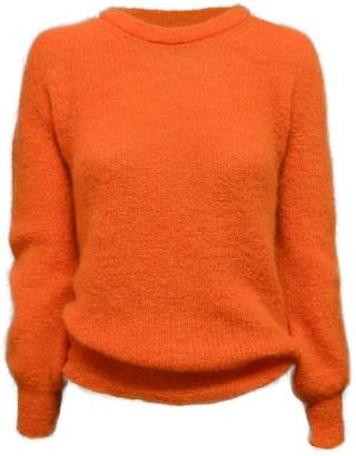 Theavant Paloma Mohair Jumper In Orange