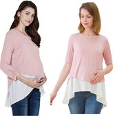 Sweet Mommy Maternity and Nursing Layered A-line Nursing Top MGRWHF