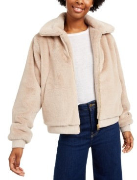 Say What Juniors' Faux-Fur Jacket
