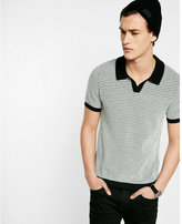Express textured polo sweater