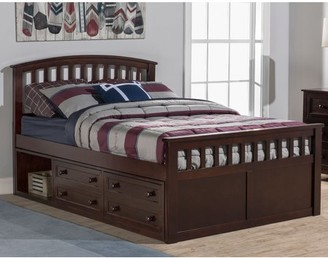Hillsdale Furniture Schoolhouse 4.0 Charlie Captain's Bed, Multiple Sizes, Colors & Options