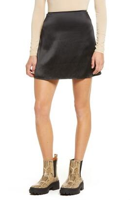 Reformation Benson Silk Miniskirt