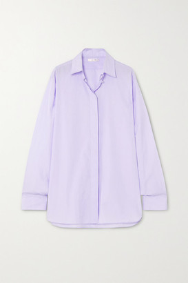 The Row Big Sisea Cotton-poplin Shirt - Lilac