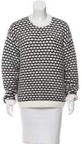 Jay Ahr Honeycomb Metallic-Accented Sweater