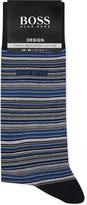 HUGO BOSS Design striped mercerised cotton socks