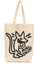 Marc Jacobs stinky rat print canvas bag - men - Cotton - One Size
