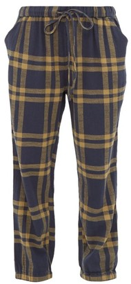Ace&Jig Tommy Checked Cuffed Cotton Track Pants - Womens - Navy Multi
